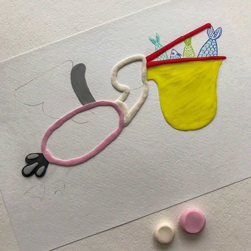 Мастер-класс: Рисуем пластилином пеликана.